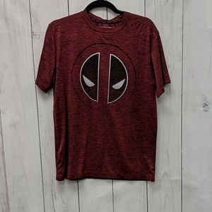 Marvel Deadpool Red Grafic Tee Shirt Size Medium